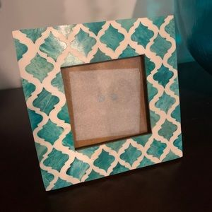 NWOT Turquoise Picture Frame 4x4